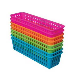 Pencil and Marker Baskets  Neon - 8 baskets