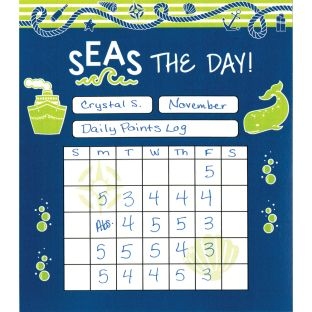 Nautical Mini Incentive Charts - 24 charts