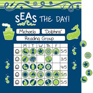Nautical Mini Incentive Charts And Stickers Kit
