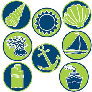 Nautical Mini Stickers