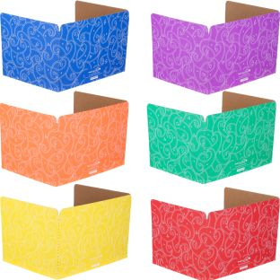Standard Privacy Shields - Set of 12 - 6 Group Colors - Star & Swirl - Matte