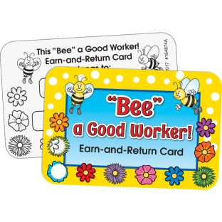 """Bee"" A Good Worker! Earn-And-Return Cards"