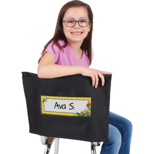 Bees Store More® Deep-Pocket Chair Pockets - 6 chair pockets and name tags