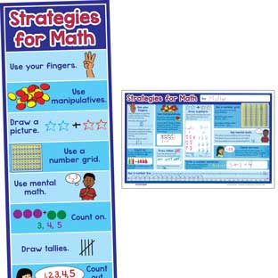 Math Strategies Banner And Activity Mats
