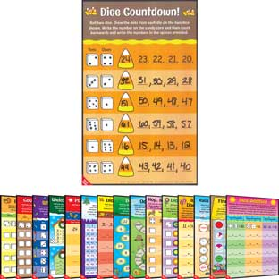 Seasonal Math Mats Dice Games - 16 mats