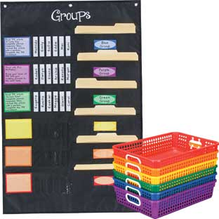 Grouping Pocket Chart And Paper Baskets Pack - Classroom