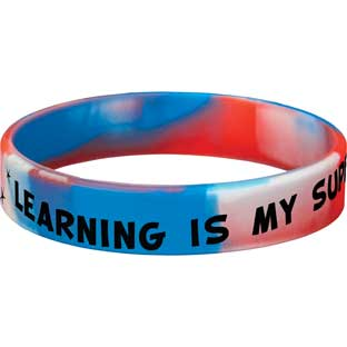 Learning Is My Superpower Silicone Bracelets - 24 bracelets