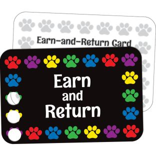 Paw Prints Earn-And-Return Cards - 70 cards