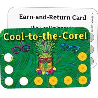 Cool-To-The-Core Earn-And-Return Cards - 70 cards
