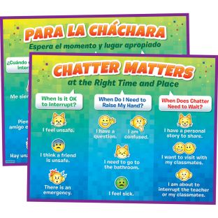 Chatter Matters Poster - English/Spanish - 1 poster