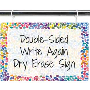 Colorful Drops Dry Erase Sign