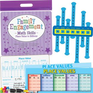 Family Engagement Math Skills - Place Value To Billions - 1 multi-item kit