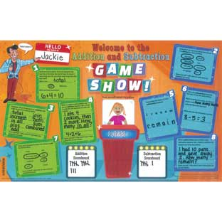 Addition-Subtraction Words Activity Mats - 24 activity mats