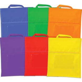 Group-Color Book Pouches - 6 Colors