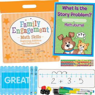 Family Engagement Math Skills - Beginning Addition And Subtraction - 1 multi-item kit