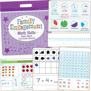 Family Engagement Math Skills - Basic Math Dry Erase Boards - 1 multi-item kit