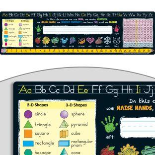 Chalkboard-Style Self-Adhesive Deluxe Plastic Desktop Helpers™ - Primary - 24 helpers