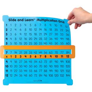 Magnetic Teacher Demonstration Multiplication Grid - 1 grid