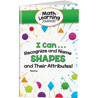 Math Learning Journals™ - I Can Recognize And Name Shapes And Their Attributes! - 24 journals
