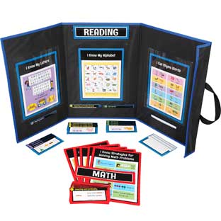 Math And Reading Center Work Office Kit - Grade K - 1 station, 60 cards