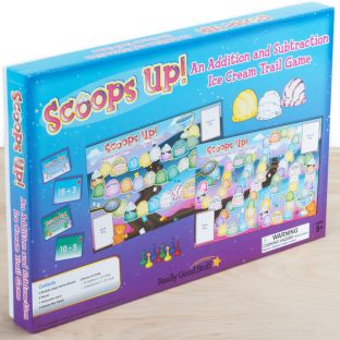 Scoops Up! An Addition And Subtraction Ice Cream Trail Game - 1 game