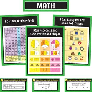 Math Center Work Office Cards - Grade 1 - 30 cards