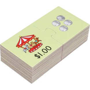 Find-A-Pair Puzzles™ - Counting Money To $1