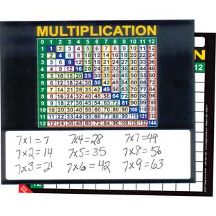 Multiplication Grid And Write Again® Mats
