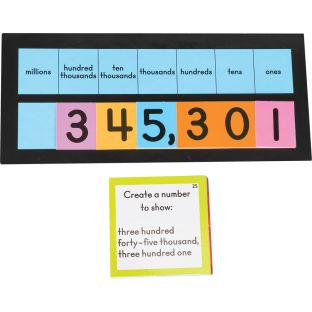 Layer-It™ Place Value Learning Activity Cards - Grades 3-5 - 4 sets of cards