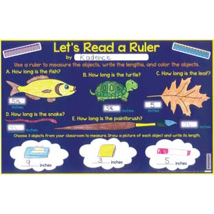 Let's Read A Ruler Activity Mats - 24 mats