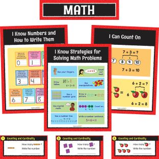 Math Center Work Office Cards - Grade K