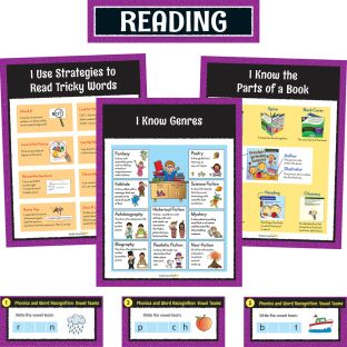 Reading Center Work Office Cards - Grade 2