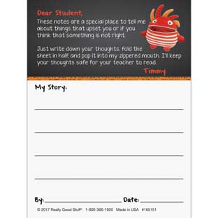 Meet Timmy The Tattle Monster Notepad Refill - 100 notes
