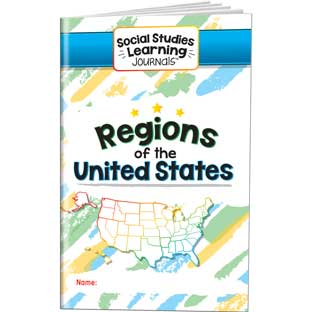 Social Studies Learning Journals™ - Regions Of The United States - 24 journals