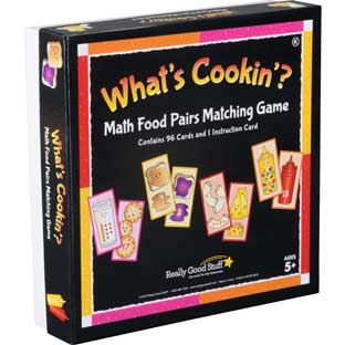 What's Cookin'? Math Food Pairs Matching Game - Kindergarten - 4 games