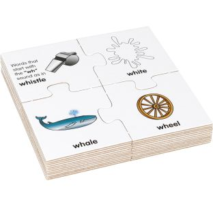 Initial Blends And Digraphs Puzzles - 12 puzzles