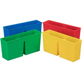 Plastic Magnetic Storage Bin - 4 Colors