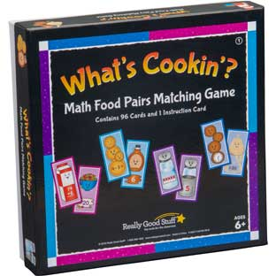 What's Cookin'? Math Food Pairs Matching Game - First Grade - 4 games