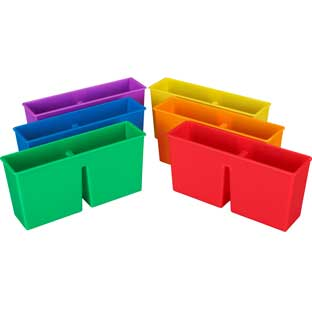Plastic Magnetic Storage Bin - 6 Colors