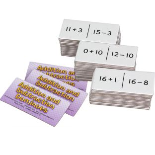 Addition And Subtraction Dominoes - 54 dominoes