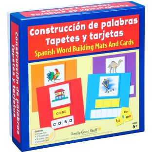 Construcción de palabras Tapetes y tarjetas (Spanish Word Building Mats And Cards) - 1 multi-item kit