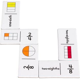 Fraction Dominoes - 54 dominoes