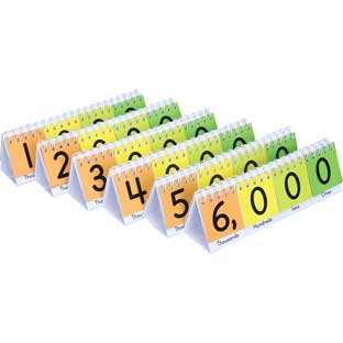 Mini Primary Place Value Flip Charts - Set of 6