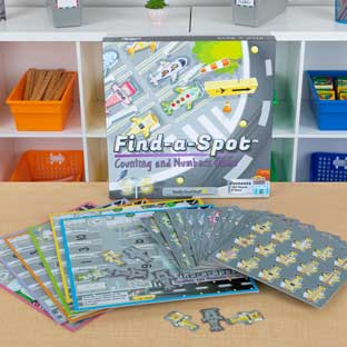 Find-A-Spot Counting And Numbers Game - 1 game