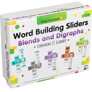 Word Building Sliders: Blends and Digraphs - 27 sliders