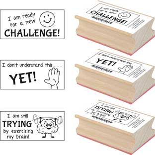 The Power Of Yet! Self-Assessment Stamps - 3 stamps
