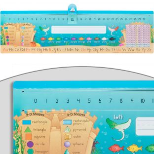 Slide-To-Count Self-Adhesive Deluxe Plastic Desktop Helpers™ - Sea Theme - 24 Helpers