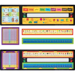 Removable School Tools Self-Adhesive Desktop Helpers™ - Primary