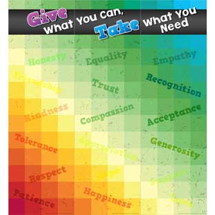 Give What You Can, Take What You Need Jumbo Poster - 3 banners
