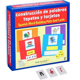 Construcción de palabras Tapetes, tarjetas y letras (Spanish Word Building Mats, Cards, And Letter Tiles)